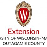 "A white W sits in a red shield above the words ""Extension University of Wisconsin-Madison Outagamie County"""