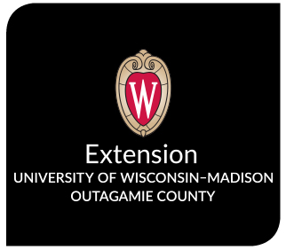 The UW-Extension logo against a black background