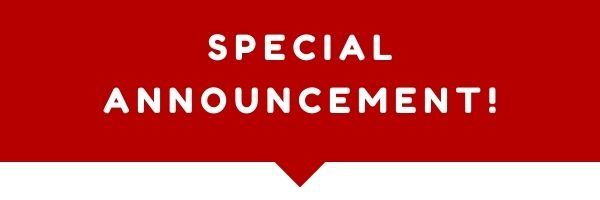 """A red bar with the words """"Special Announcement!"""" inside"""