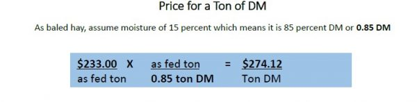 Example about price per ton