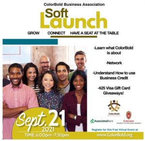 A group of entrepreneurs stand together to announce the ColorBold Soft Launch